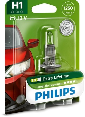 12258 LLECOB1 Bec PHILIPS H1 12v 55w Long Life Ecovision PHILIPS