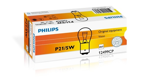 12499CP Bec PHILIPS 12v P21/5w (Se Factureaza Cate 10) PHILIPS
