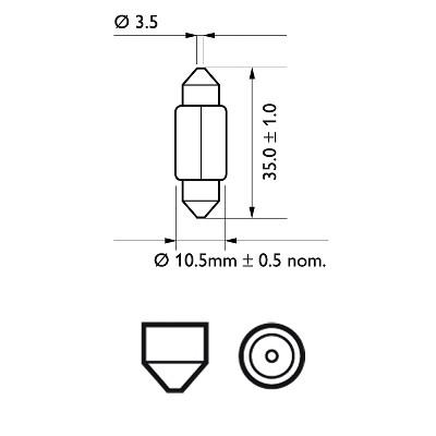 12844 CP Bec PHILIPS 12v Tip C5w (Se Factureaza Cate 10) PHILIPS
