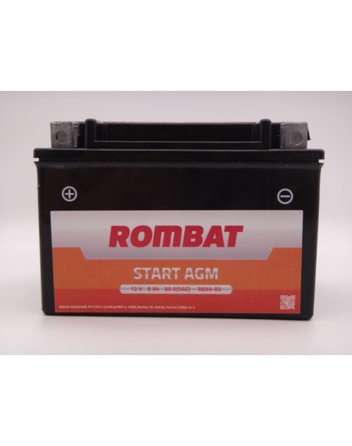 RBX9-BSROM Baterie ROMBAT Moto Agm 8ah 80A ROMBAT