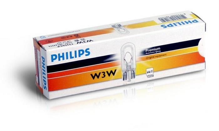 12256 CP Bec PHILIPS 12v3w Tip W3w (Se Factureaza Cate 10) PHILIPS