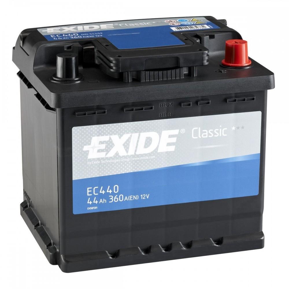 EC440 Baterie EXIDE Classic 12v 44ah 360A EXIDE
